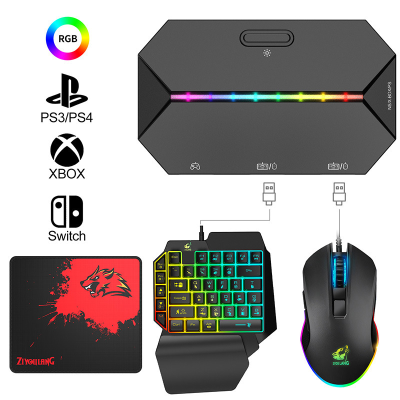 Switch Xbox PS4 Console Gamepad To Keyboard and Mouse Converter Gamepad for Nintendo Switch Console Keybord Mice Gaming Setup 3