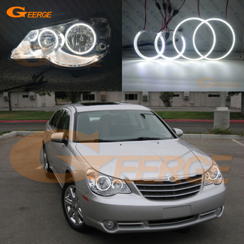 цена на For Chrysler Sebring 2007 2008 2009 2010 Excellent smd led Angel Eyes kit Ultra bright illumination DRL