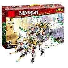 лучшая цена 2019 Legoinglys Ninjagoed Heavy Hunted Dragon Lloyd Truck Model Building Blocks Bricks Educational Toys for Children Boy Gifts
