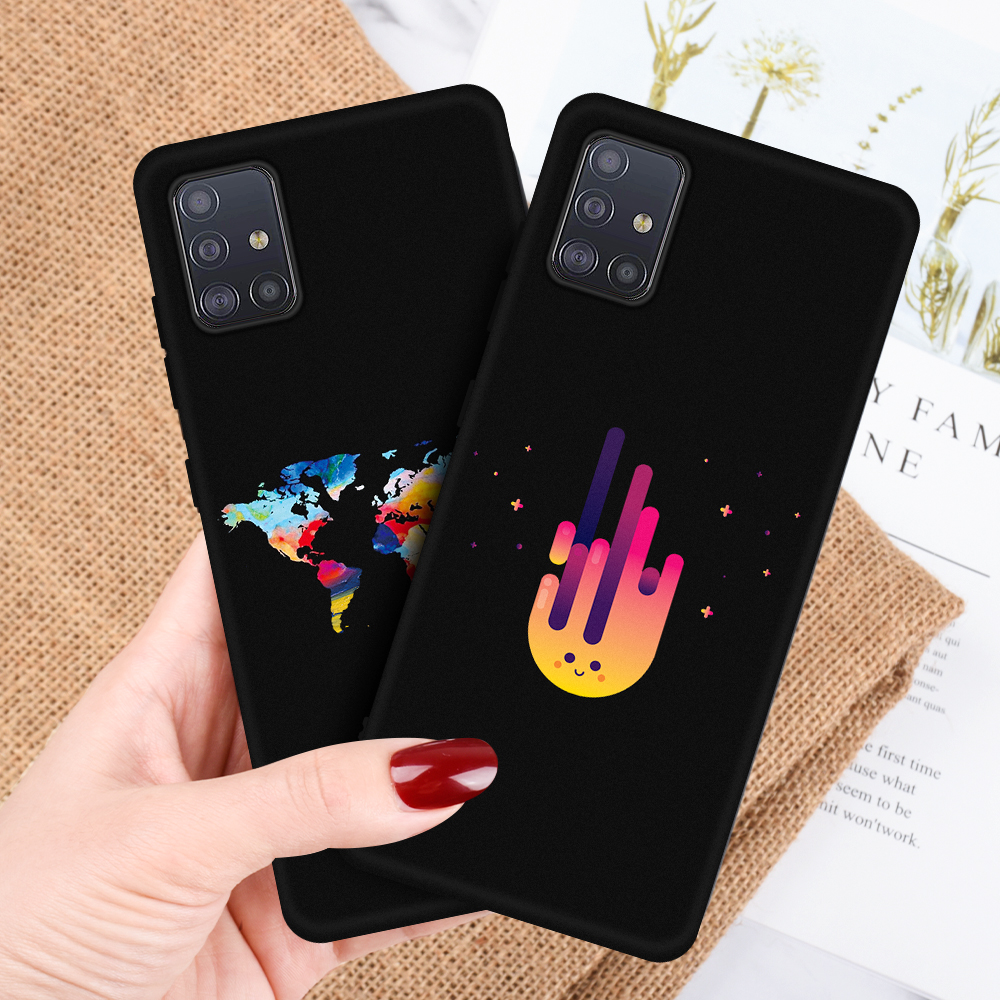 For <font><b>Samsung</b></font> Galaxy A51 A71 <font><b>2019</b></font> World Map Cool Space Star Printing <font><b>Case</b></font> Soft <font><b>Silicone</b></font> Cover For <font><b>Samsung</b></font> A10 A20 A30 <font><b>A50</b></font> A60 Capa image