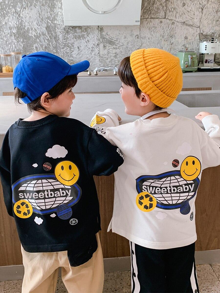 Boy's Reflective Long-Sleeved T-shirt 2021 New Fashion Kid's Jacket Children's Korean-Style Children's Clothing Autumn 2