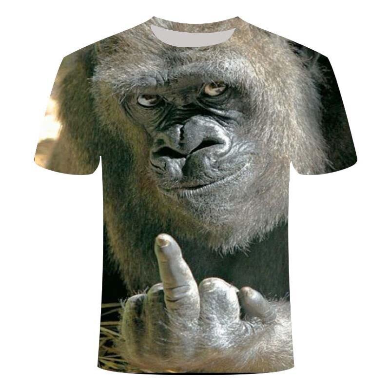 2020 New 3D Lion T-shirt Men's Animal T-shirt Cool 3D Style Pattern 3DT Shirt Summer Trend Short Sleeve