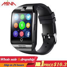 Q18 Men Smart Watch With Touch Screen Big Battery smart wristband Support TF Sim Card Camera smart band Smartwatch(China)