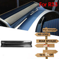 Carbon Fiber Black Glossy Finished For Nissan R33 Skyline GTR Nis Style Twin Wing Spoiler Blade accessories Exterior Body kit