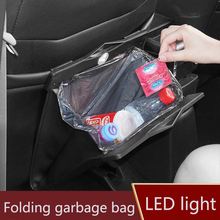 MoFan car trash can garbage bag hanging seat behind the with hidden folding custom