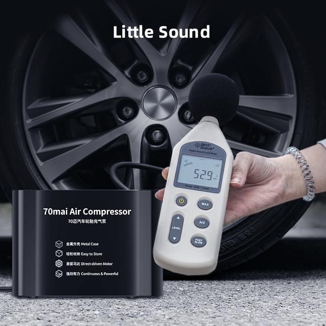 70mai compresseur dair 12V 70mai portable électrique voiture pompe à Air contrôle tactile LED affichage compresseur pour scooter et vélo