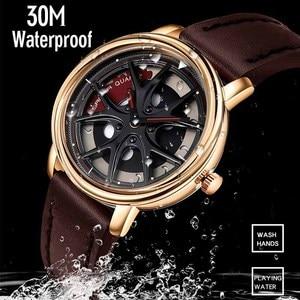 Image 4 - Car Wheel Watch Men Personality 360 Degree Rotating Watches Waterproof Quartz Wristwatch SANDA Top Brand Luxury tourbillon reloj