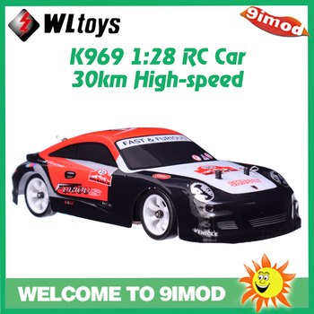 цена на Wltoys K969 RC Car 1:28 Four-wheel 4WD Drive Off-road 2.4G Remote Control Alloy Chassis 30km High-speed Car Kids Children Toys