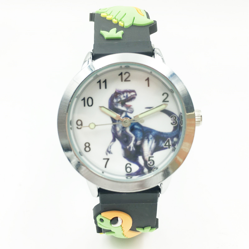 3D Dinosaur Cartoon Kids Boys Watches Waterproof Jelly Silicone Student Wristwatch Fashion Children Girl Analog Quartz Watch