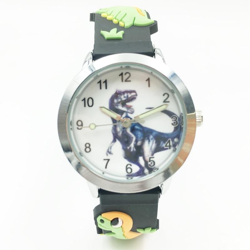 3D Dinosaur Cartoon Kids Boys Watches Waterproof Jelly Silicone Student Wristwatch Fashion Children Girl Analog Quartz Watch