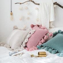 Handmade Cushion Cover Moroccan Style Pillow Case Tassel Edge Square Rectangular Pillow Case 45x45cm pillow cover pillow cases