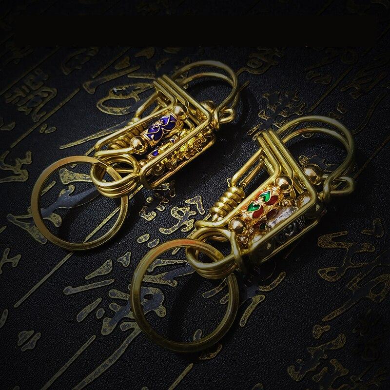 New Men's High-end Metal Brass Keys Case Creative Mythical Wild Animal Key Holder Key Organizer Bag Personalized Birthday Gifts