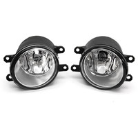 2Pcs H11 Car Front Bumper Left/Right Fog Light Lamp+Black Grille Covers Switch H11 Bulbs for Toyota Corolla 2008 2009 2010