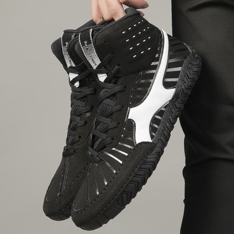 2020 professional non slip squat boxing wrestling shoes soft soled shoes weightlifting gym training sports fighting