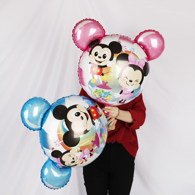 *Round Minnie Mouse Donald Birthday Helium Foil Balloon Balloons Party Kids*