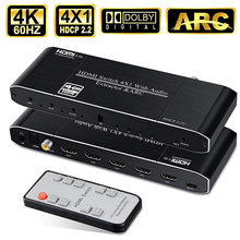 2019 Best 4K HDMI 2.0 Switch Remote 4x1 HDR HDMI S
