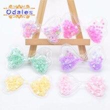 12Pcs Paillettes Bow Tie Padded Applique Glitter Appliques for Kids Hats/Shoes Ornament DIY Crafts Wedding Decoration