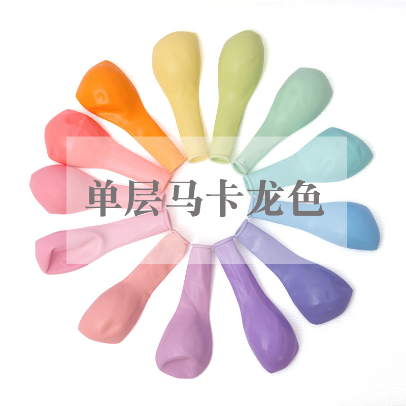 10 Inches Balloons Gram Single Layer Macarone Latex Balloon Thickened Candy Colored Birthday  Party Wedding Decoration