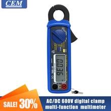 Cem DT-9702 ac/dc 600v medidor digital da braçadeira, amperímetro da multi-função, multímetro, teste de frequência da resistência da proteção da sobrecarga