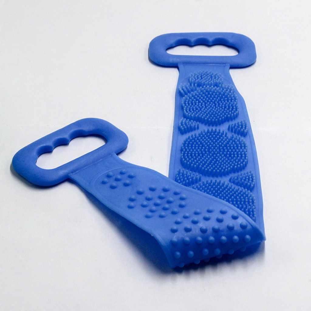 Cepillo de silicona de 60/70 CM para baño y ducha, cepillo para el cuerpo, toalla de baño, cepillo corporal exfoliante, cepillo largo de silicona para el baño
