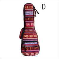 21 23 26 Inch Ukulele Bag Double Shoulder Straps Case Fashion printed fabric Hawaiian small guitar case Ukulele Accessories QB11