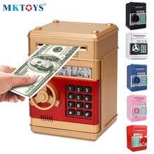 MKTOYS hucha electrónica cajero automático de la contraseña de la caja de dinero efectivo hucha para ahorro de monedas caja de depósito automático billetes hucha chico regalo