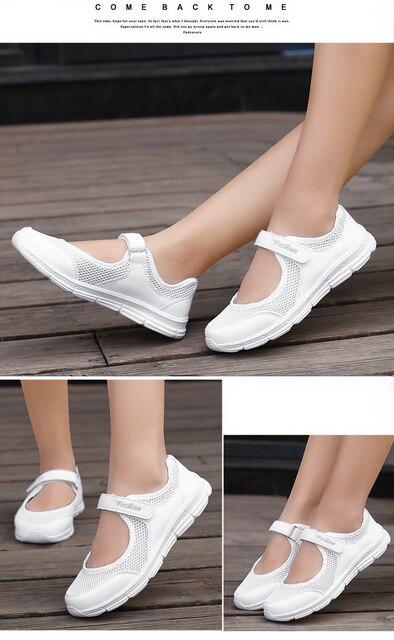 Moda feminina tênis casuais sapatos femininos malha 2019 sapatos de verão respirável formadores senhoras cesta femme tenis feminino 4