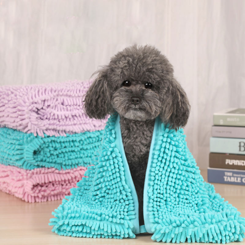 Microfiber Dog Towel Ultra Absorbent Quick Dry Pet Bath Towels For Pet Dogs Cats LBShipping