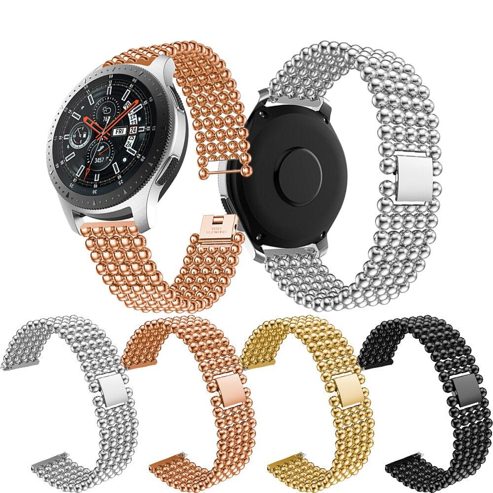 Для Samsung Galaxy Watch 46 мм newFive Bead круглый бисерный сплав ремешок для Samsung Gear S3 22 мм сменный ремешок аксессуар для браслета|Ремешки для часов|   | АлиЭкспресс