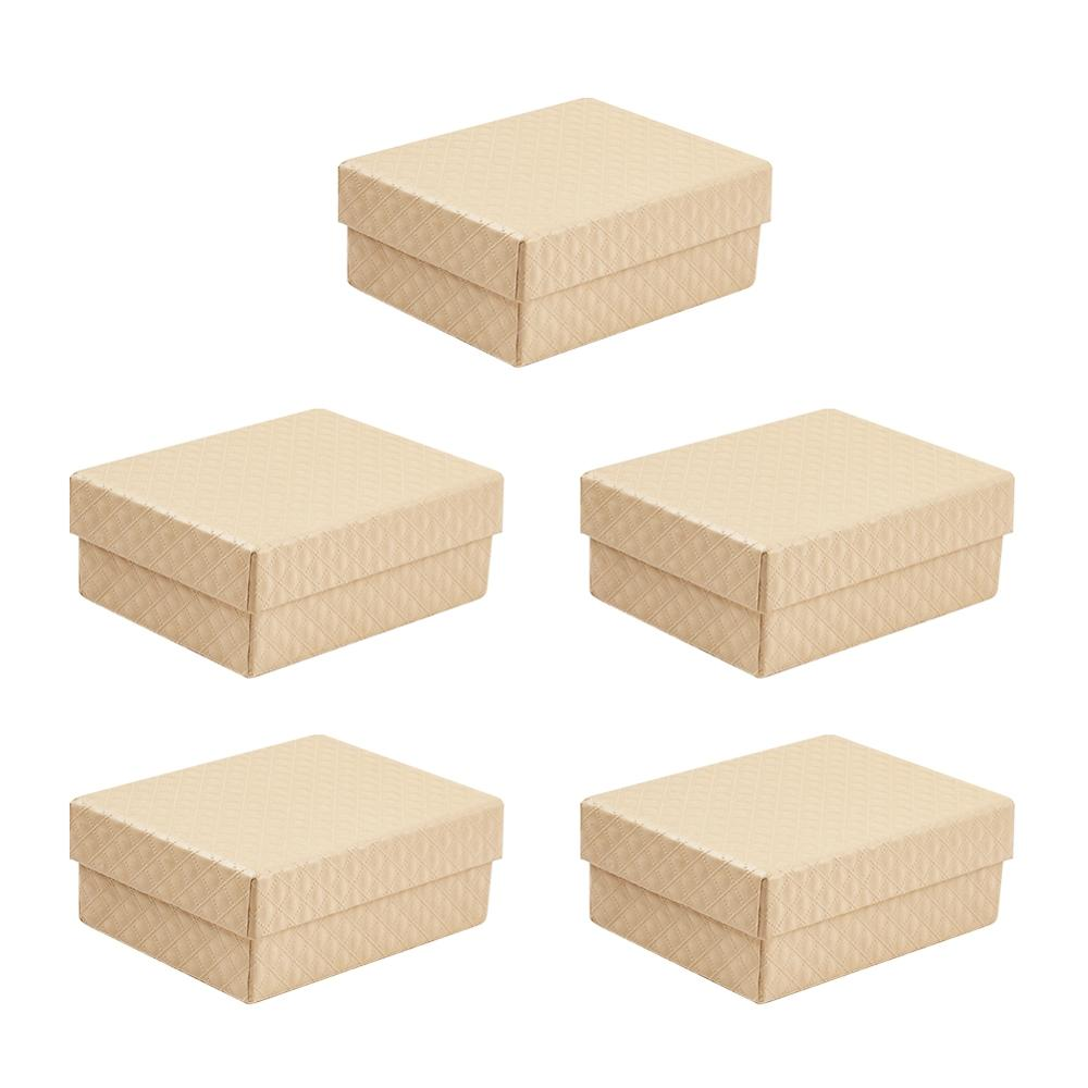 5pcs/lot High Quality Jewelry Necklace Earrings Ring Box Cardboard Boxes For Packaging Gift Box Rectangle Jewellery Organizer