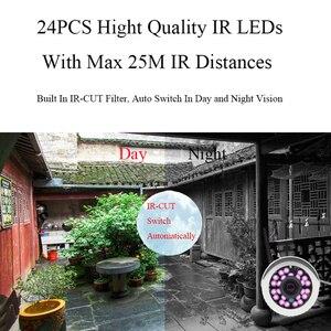 Image 5 - HD 2MP 1080P ses kablosuz IP kamera WiFi kablolu 720P güvenlik kamerası gözetim güvenlik mermi IR gece görüş su geçirmez kamera