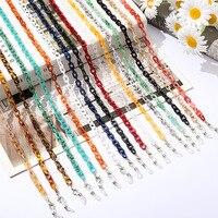 Nuova catena per occhiali in acrilico ambrato catena per maschera in resina Color boemia catena per occhiali da sole a catena larga per cinturini per occhiali