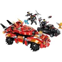 Chariot Car Building Super Hero Series Dragon Blocks Bricks Sets Model Kids Toys Marvel Compatible Ideas Ninja Movie
