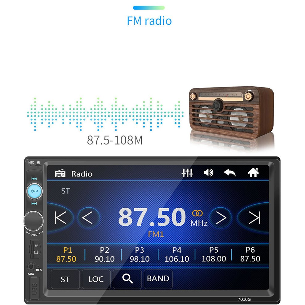 Multi-function <font><b>7010G</b></font> Phone Call MP5 Player GPS Navigator multimedia player Car Aid Accessories image