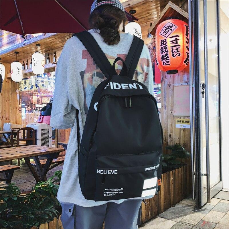 Women School Backpack School Bags For Teenage Girls Large Capacity Nylon Satchel Bookbag Teen High Schoolbag Campus Bagpack Pink