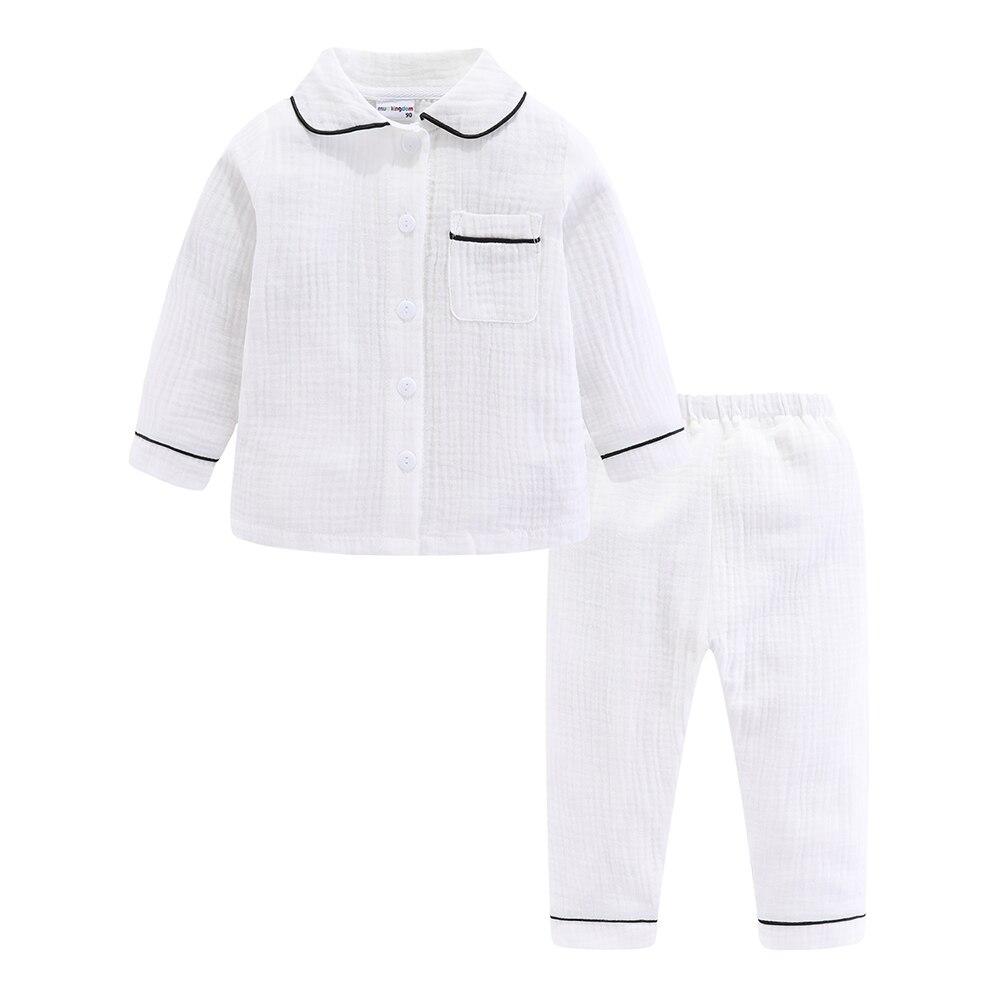 Mudkingdom Boys Pajamas Set Plain Collared Long Sleeve Spring Autumn Kids Sleepwear Clothes Set 2