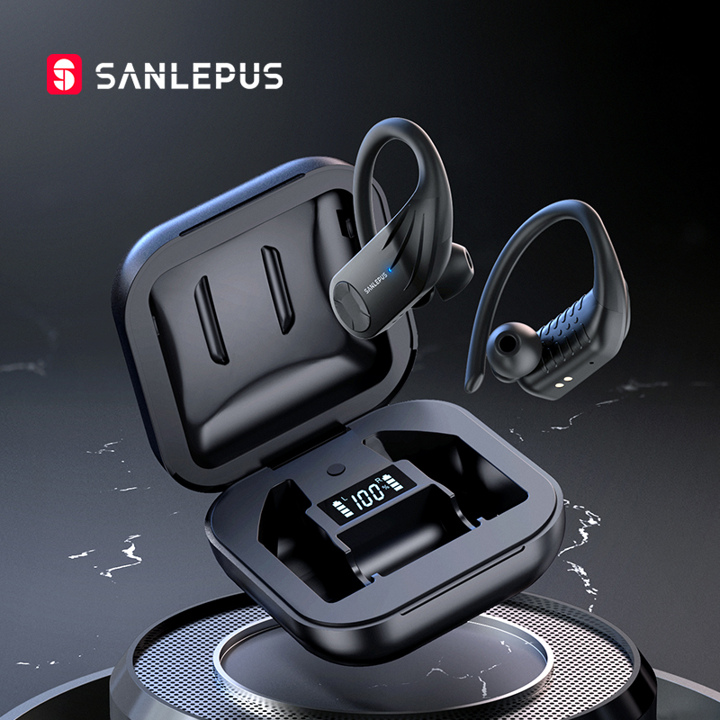 SANLEPUS B1 светодиодный дисплей Bluetooth наушники беспроводные наушники TWS стерео наушники Спортивная игровая гарнитура для Xiaomi Huawei iPhone