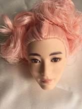 キャンディーカラーの髪の人形の頭部王女人形ヘッドおもちゃ部品diyのおもちゃ男性女性人形部品diyドレッシングファッション少年人形ヘッドおもちゃ