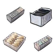 Dormitory Closet Organizer, For Socks Home Separated Underwear Storage Box, 7 Grids Bra Organizer, Foldable Drawer Organizer