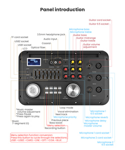Image 3 - Bluetooth ses ses karıştırma konsolu MP3 modülü kayıt gitar mikrofon W. optik koaksiyel Aux girişi Analog I2S çıkış spektrum USB