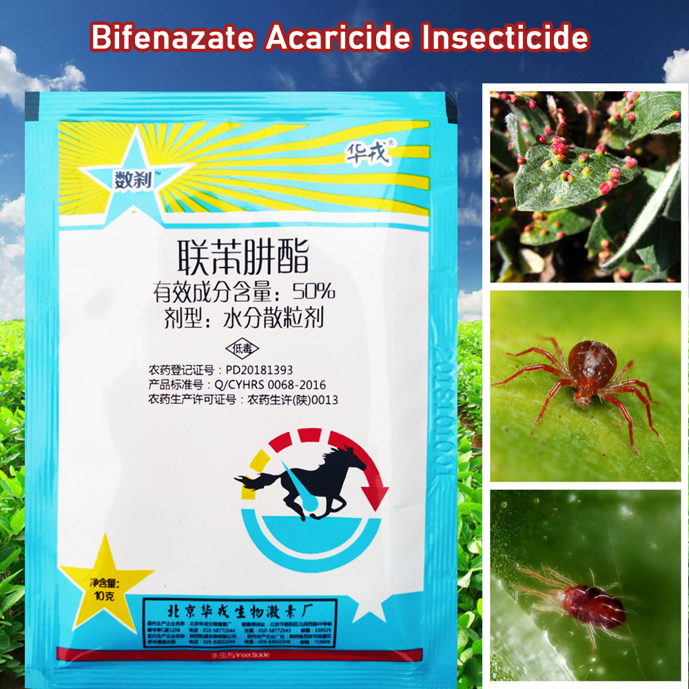 10 G Bifenazate Acaricide Insecticide Kill Mites & Ticks Red Spider Pest Pesticides Protection Plant For Garden