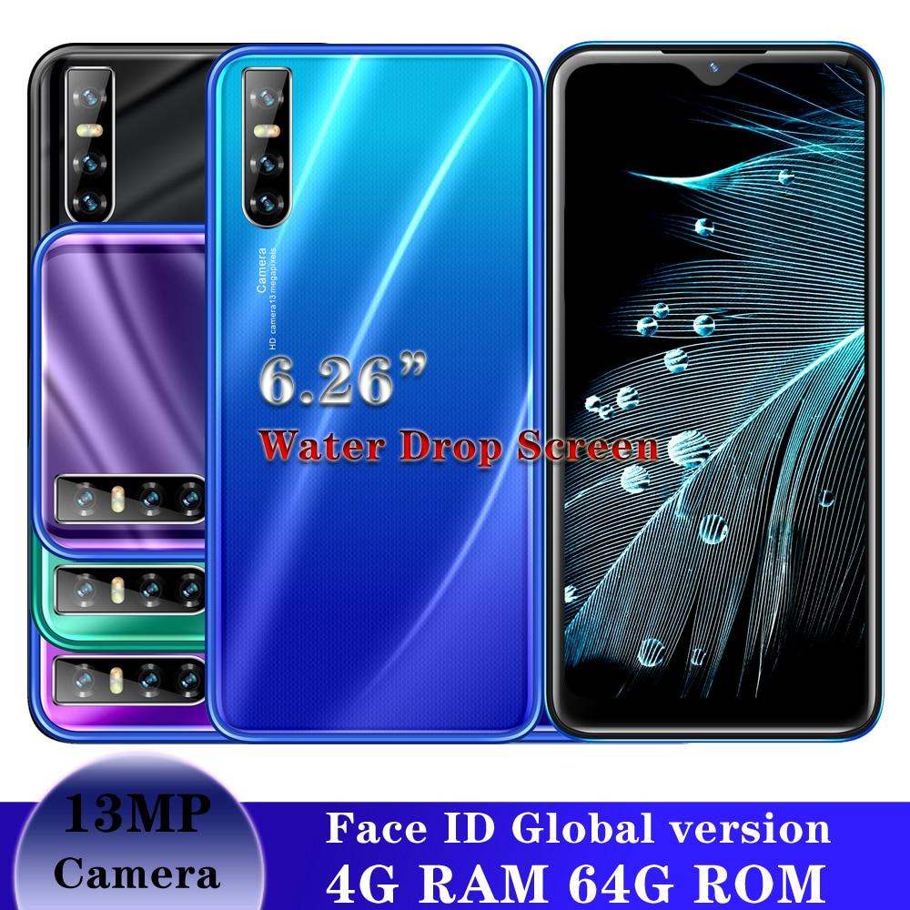 S6 мобильный телефон IPS MTK 13 МП android 5,1 мобильный телефон полноэкранный смартфон четырехъядерный 4 Гб ОЗУ 64 Гб ПЗУ распознавание лица разблокир...