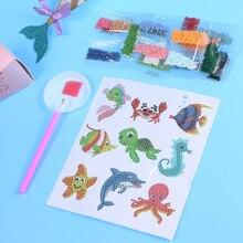 Cartoon Diamond Mosaic Sticker Animal Shaped Stickers Diamond Painting Cute DIY Crafts Handmade Toys