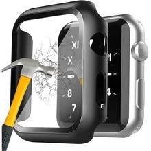2X cubierta para Apple Watch Serie 6 5 4 3 2 SE iWatch 38mm 40mm 42mm 44mm 38 40 42 44mm funda de protección Protector de pantalla Accesorios