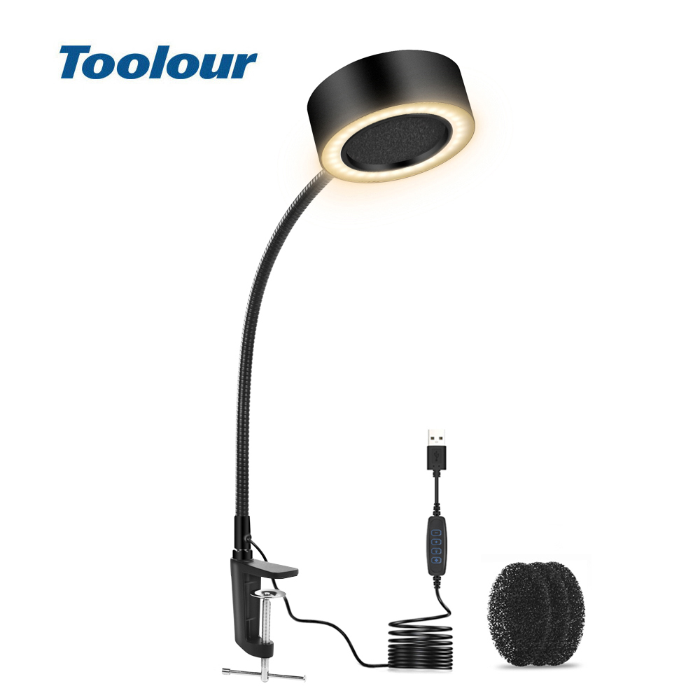 Toolour Soldering Smoking Instrument USB LED Lamp Illumination Exhaust Fan Function 3 in 1 Equipped with Spare Filter Sponge