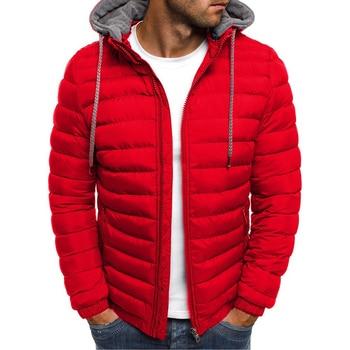 DIMUSI Men's Bomber Jacket Fashion Man Hoody Winter Jacket Cotton Padded Coats Male Thermal Outwear Windbreaker Jackets Clothing 2