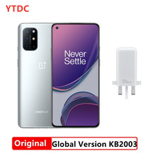 Global Versie Oneplus 8T KB2003 Mobiele Telefoon 6.55 ''120Hz Amoled Snapdragon 865 Octa Core Android 11 In-Screen 65W Warp Lading