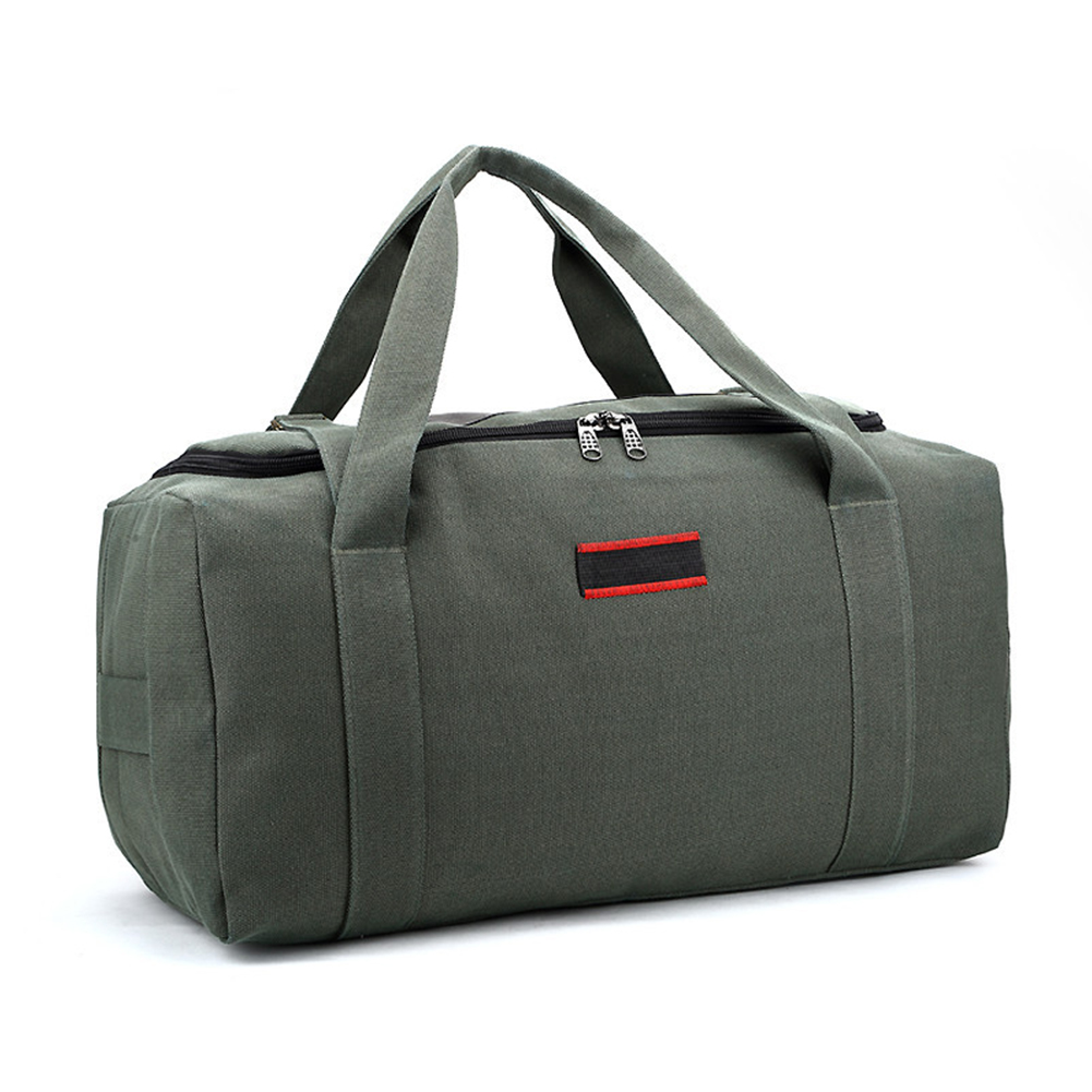 Men Women Handheld Rucksack Camping Wear Resistant Outdoor Canvas Waterproof Travel Bag Gym Pack Fitness Large Capacity Handbag