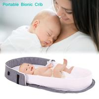 Portable Bionic Baby Crib Baby Safety Isolation Bed Multi function BB Outdoor Folding Bed Travel Cradle Foldable Crib