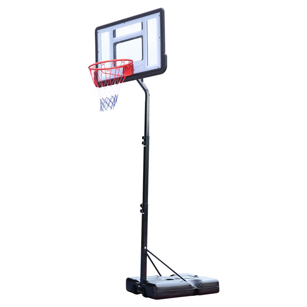 HY-B07S Portable Removable Basketball System Basketball Hoop Teenager PVC Transparent Backboard With 2.1m-2.6m Adjustable